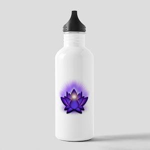 """Purple """"Third Eye"""" Chakra Lotus Stainless Water Bo"""
