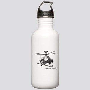Wings are for Faries AH-64D Stainless Water Bottle