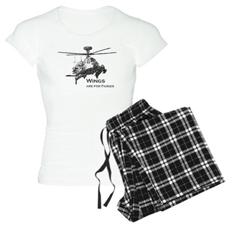 Wings are for Faries AH-64D Women's Light Pajamas