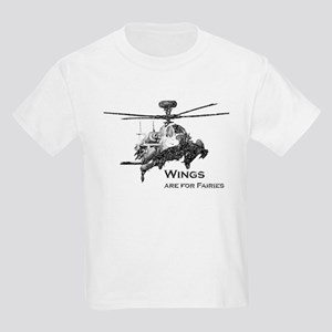 Wings are for Faries AH-64D Kids Light T-Shirt