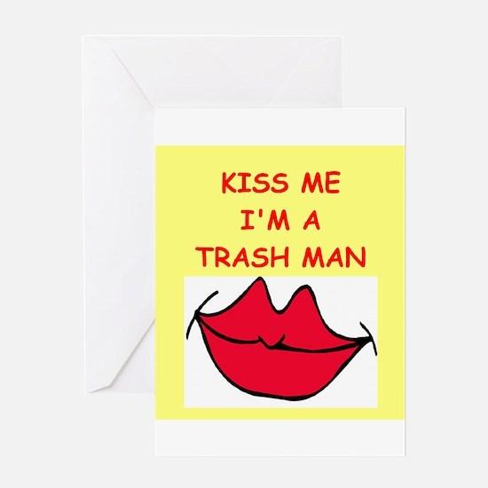 trash man Greeting Card