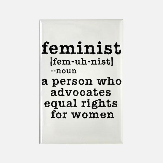 Feminist Definition Rectangle Magnet