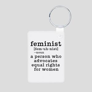 Feminist Definition Aluminum Photo Keychain