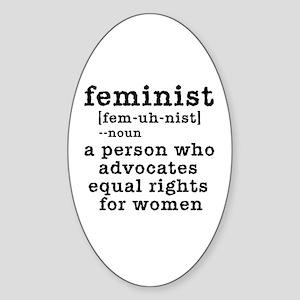 Feminist Definition Sticker (Oval)
