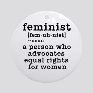 Feminist Definition Ornament (Round)