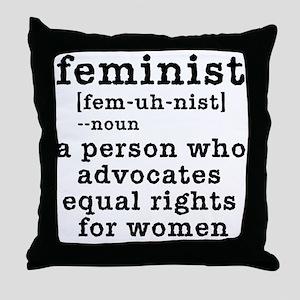 Feminist Definition Throw Pillow