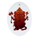 Ganesha3 Ornament (Oval)