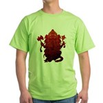 Ganesha3 Green T-Shirt