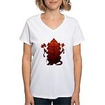 Ganesha3 Women's V-Neck T-Shirt