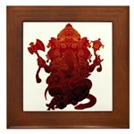 Ganesha3 Framed Tile