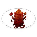 Ganesha3 Sticker (Oval 10 pk)
