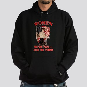 Women 52% and We Vote Hoodie (dark)