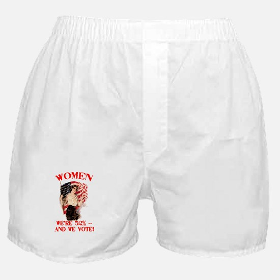 Women 52% and We Vote Boxer Shorts