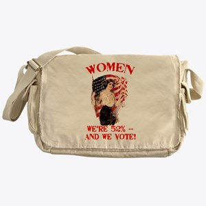 Women 52% and We Vote Messenger Bag