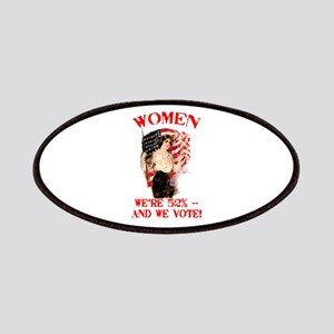 Women 52% and We Vote Patches