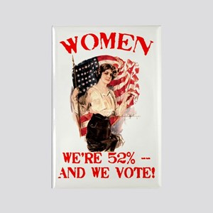 Women 52% and We Vote Rectangle Magnet
