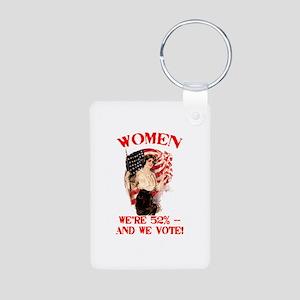 Women 52% and We Vote Aluminum Photo Keychain