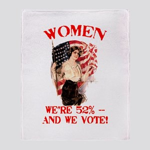 Women 52% and We Vote Throw Blanket