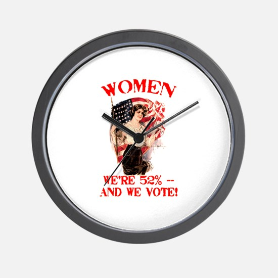 Women 52% and We Vote Wall Clock
