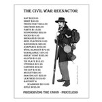 Union Reenactor Small Poster