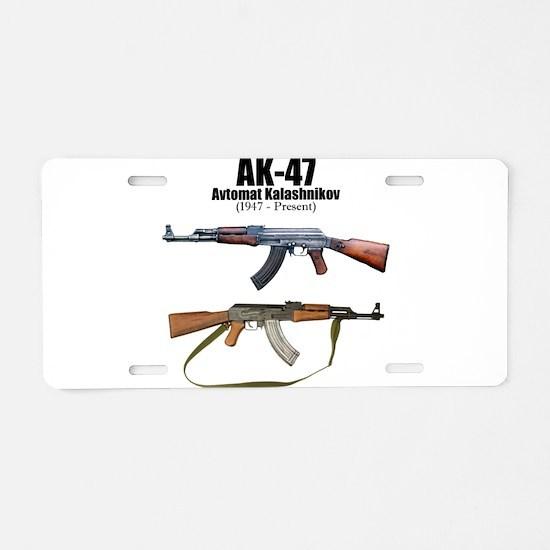 Firearm Gun Aluminum License Plate