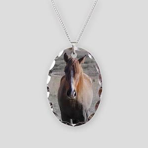 The Horses of Flint Ridge Necklace Oval Charm