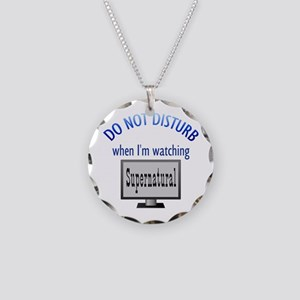 Do Not Disturb Supernatural Necklace Circle Charm