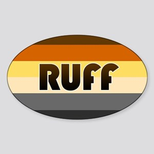 Bear 'Ruff' Sticker (Oval)