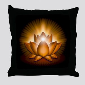 "Orange ""Sacral"" Chakra Lotus Throw Pillow"