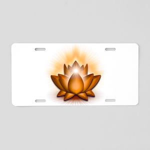 "Orange ""Sacral"" Chakra Lotus Aluminum License Plat"