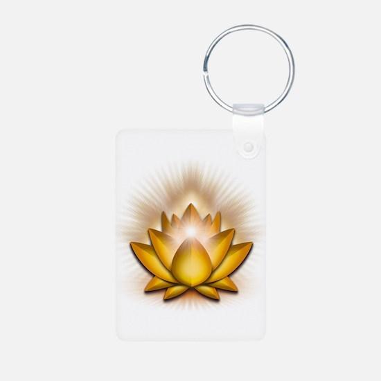 "Yellow ""Solar Plexus"" Chakra Lotus Keychains"