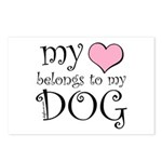 Heart Belongs to Dog Postcards (Package of 8)