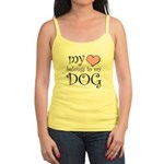 Heart Belongs to Dog Jr. Spaghetti Tank
