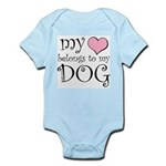 Heart Belongs to Dog Infant Bodysuit