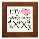 Heart Belongs to Dog Framed Tile