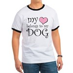 Heart Belongs to Dog Ringer T