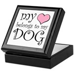 Heart Belongs to Dog Keepsake Box