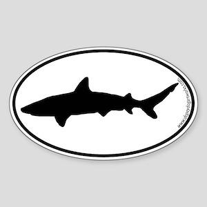 Shark SILHOUETTE Oval Sticker