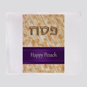 Happy Passover Throw Blanket