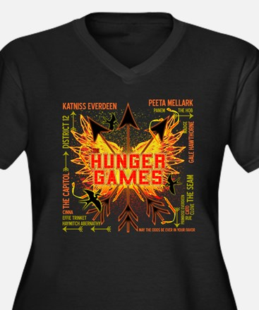 Hunger Games Gear Collective Women's Plus Size V-N