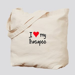 I LOVE MY Lhasapoo Tote Bag