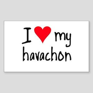 I LOVE MY Havachon Sticker (Rectangle)