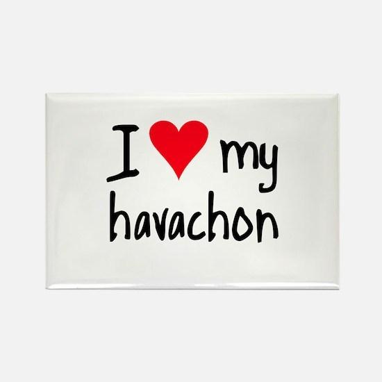 I LOVE MY Havachon Rectangle Magnet