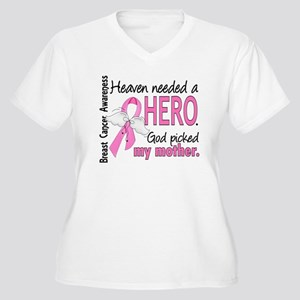 Heaven Needed a Hero Breast Cancer Women's Plus Si