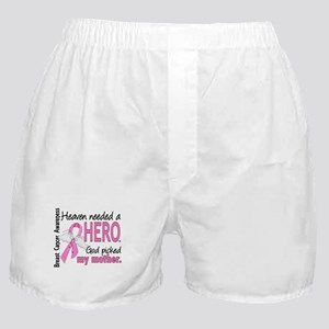 Heaven Needed a Hero Breast Cancer Boxer Shorts
