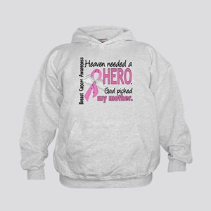 Heaven Needed a Hero Breast Cancer Kids Hoodie