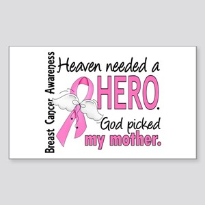 Heaven Needed a Hero Breast Cancer Sticker (Rectan