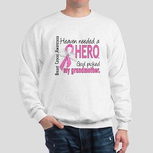 Heaven Needed a Hero Breast Cancer Sweatshirt