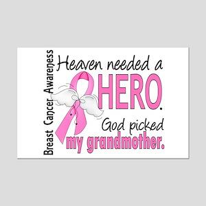 Heaven Needed a Hero Breast Cancer Mini Poster Pri