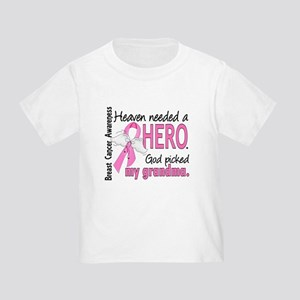 Heaven Needed a Hero Breast Cancer Toddler T-Shirt